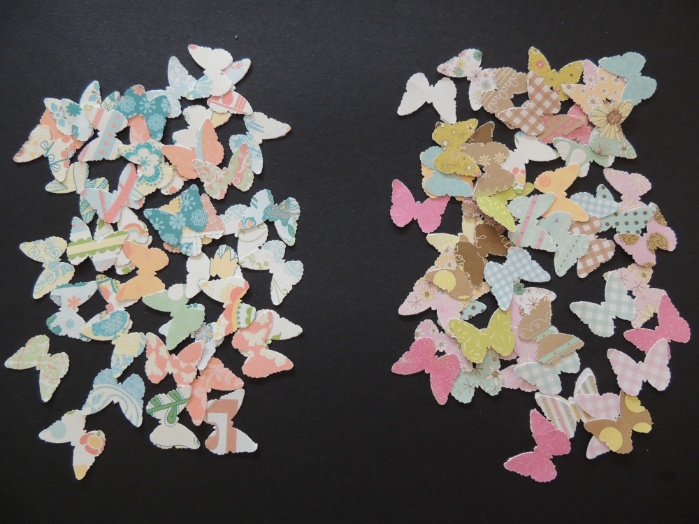 Cut-out butterflies