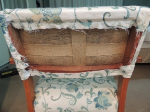 Covering back of chair