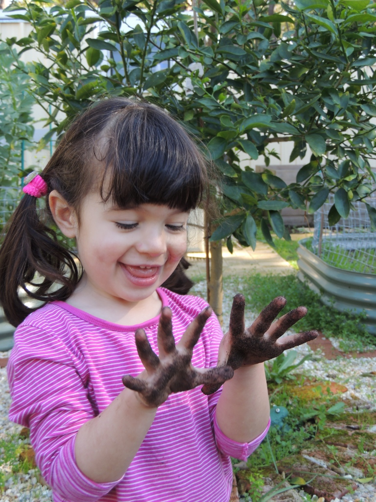 Getting your hands dirty in the garden
