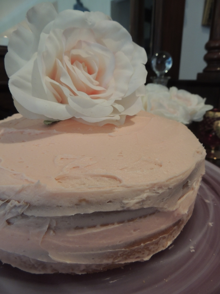 Buttercream covered cake