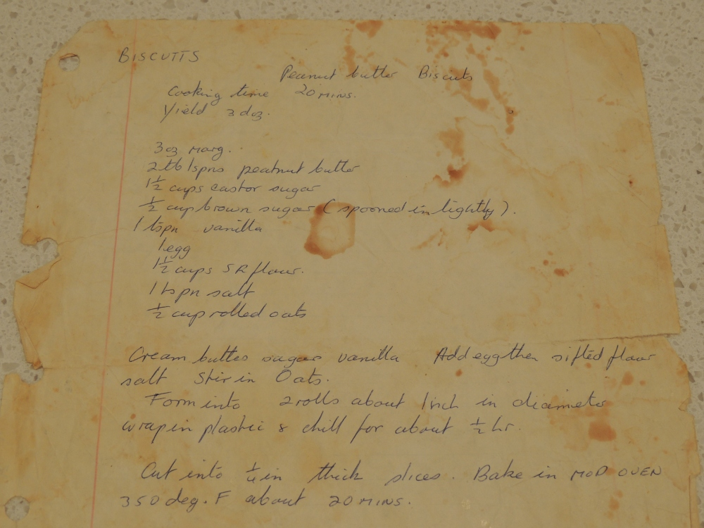 Mums old handwritten recipe
