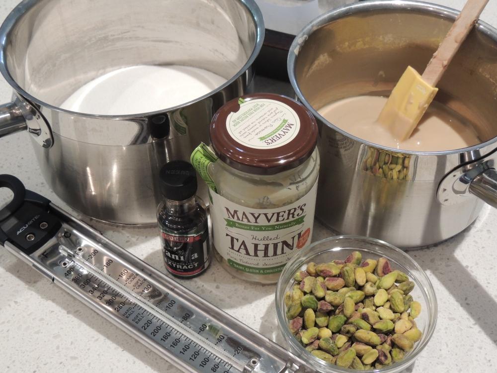 Ingredients for halva
