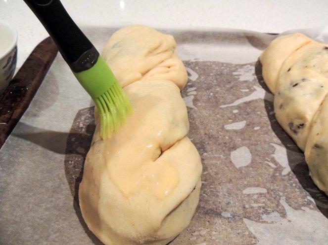 Brush with egg wash