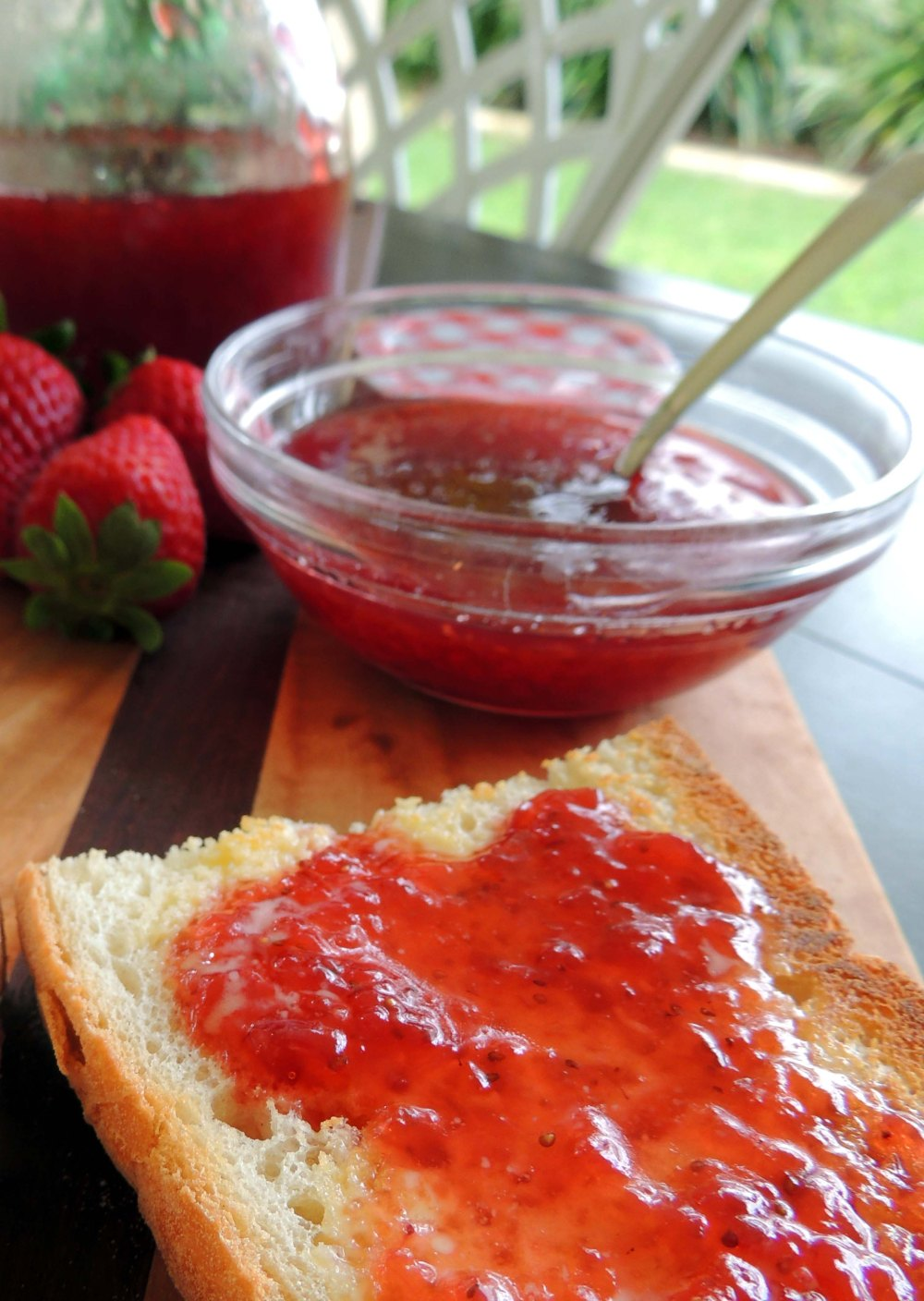 Homemade delicious strawberry jam