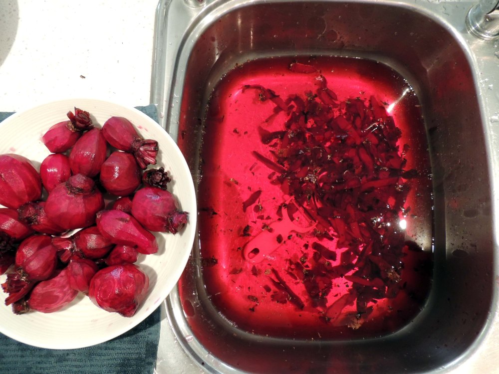 Peeled beetroot